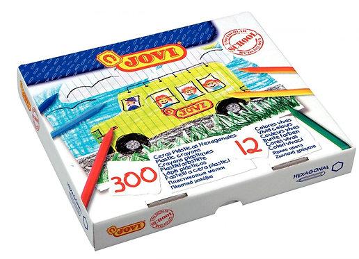 Boîte 300 crayons plastique 12 couleurs assorties