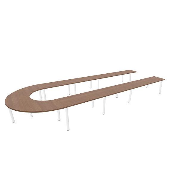 Table U Woodwork - Piétement rond - Capacité 18 personnes
