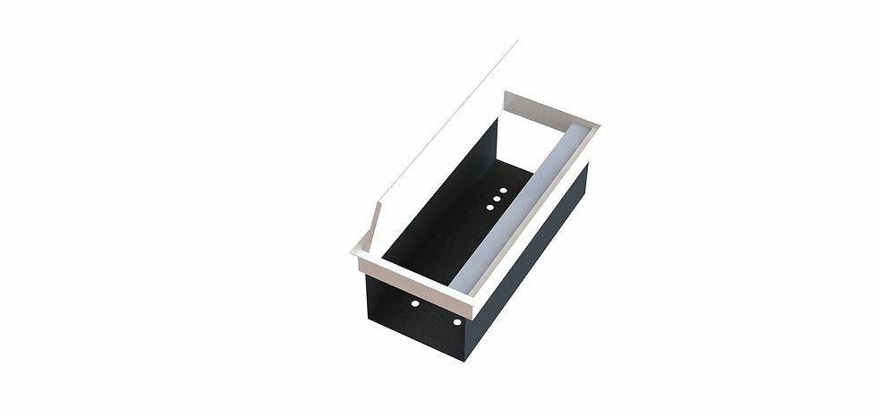 Trappe access aluminium avec bac intégré - Ouverture 1 côté