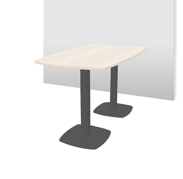 Table haute iMeeting - Piétement Gris anthracite