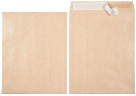 Paquet de 50 sacs kraft 120Gr 260x330 mm bande siliconnée