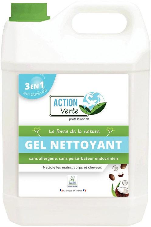 Bidon 5 litres savon gel nettoyant main, corps, cheveux senteur coco