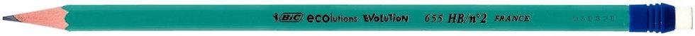 Boite de 12 crayons Evolution bout gomme HB
