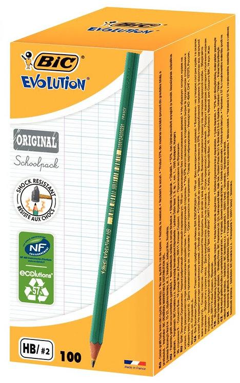 Schoolpack de 100 crayons Evolution HB dont 5 gratuits