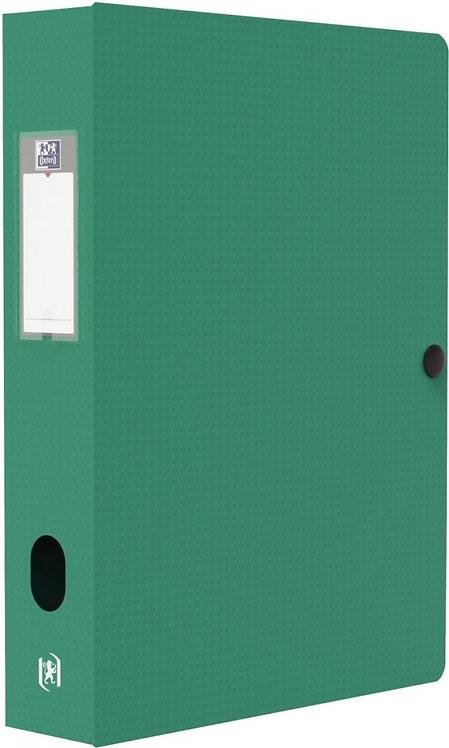 Boite de classement MEMPHIS en polypropylène, dos de 60 mm, coloris vert