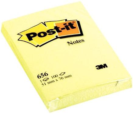 Bloc de 100 feuilles post-it notes jaune, 51 x 76 mm