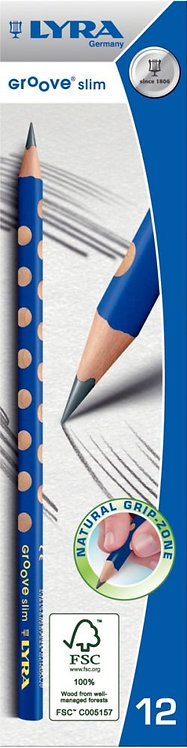 Boite de 12 crayons triangulaires graphite HB Groove slim