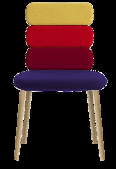 Chaise CLUSTY - 3 niveaux - 4 Pieds Bois