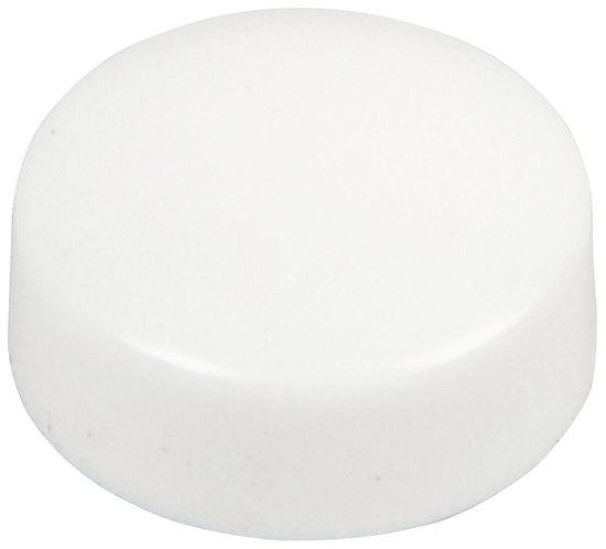 Blister de 10 punaises magnétiques, diamètre 12 mm.  Blanc