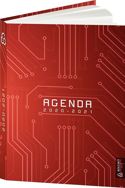 Agenda de poche techno rouge