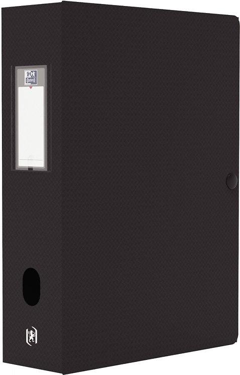 Boite de classement MEMPHIS en polypropylène, dos de 80 mm, coloris noir