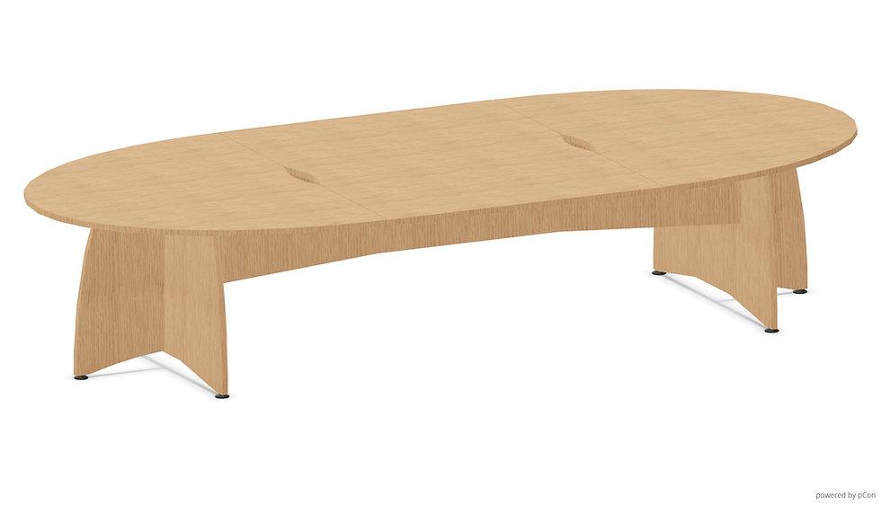 Table elliptique DOUBBY - Pied plein - L. 360 cm