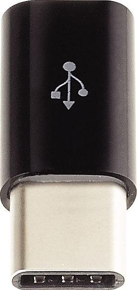 Adaptateur micro USB vers USC C monobloc noir