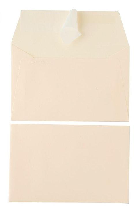Paquet 20 enveloppes POLLEN Clairefontaine, format 9x14 cm, 120 g.  Ivoire