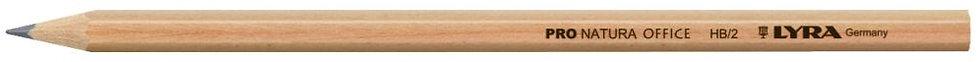 Boite de 12 crayons graphite hexagonal en bois naturel vernis HB