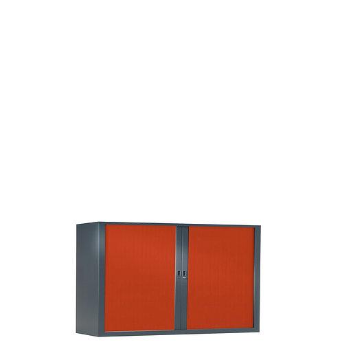 Armoire à rideaux bicolore 69.5 x 100 cm - Corps gris anthracite - Rideaux Color