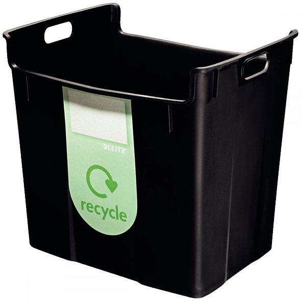 Corbeille à papier de recyclage Leitz Plus 40L noir