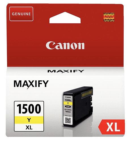 Cartouche jet d'encre à la marque Canon PGI1500XL jaune haute capacité