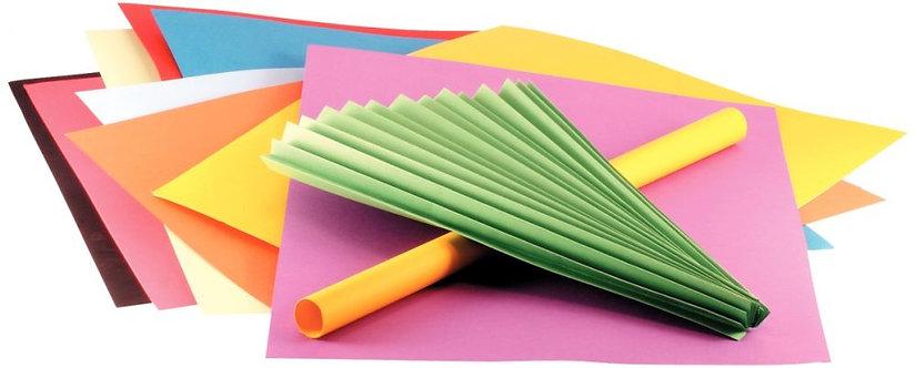 Paquet de 24 feuilles papier Vivaldi 50x65 cm 240 g couleurs assorties