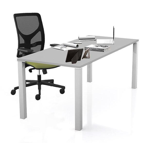 Table de bureau Coworker - Piétement Gris aluminium