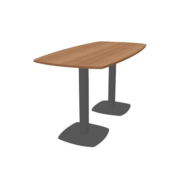 Table haute Workup - Piétement Gris anthracite