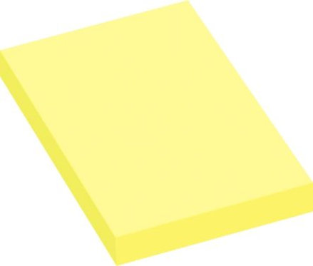 Lot de 12 blocs de 100 feuilles de notes repositionnables 5x7,5cm jaune