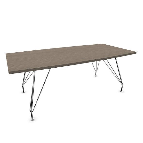 Table de conférence L. 200 cm NADKA - Plateau mélamine
