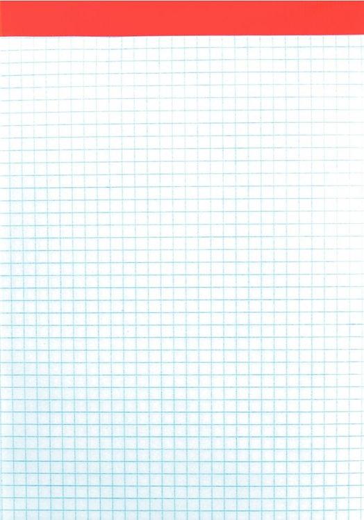 Bloc de bureau 100 feuilles 60 g, 5x5 sans couverture, 14,8x21 cm