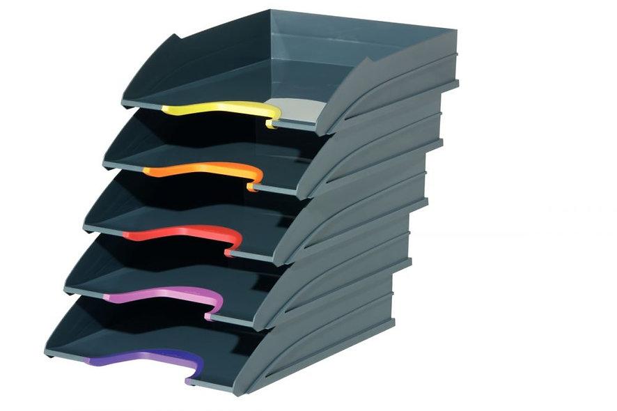 Lot 5 corbeilles courrier varicolor