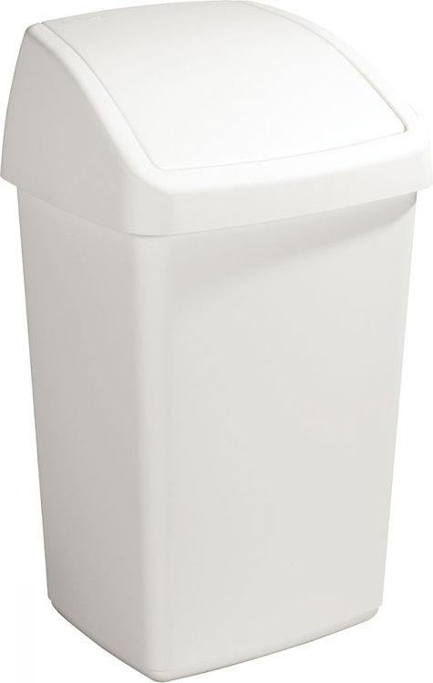 Poubelle plastique couvercle à bascule 50 litres