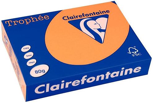 Ramette 500 feuilles de papier 80g A4 clémentine TROPHEE CLAIREFONTAINE
