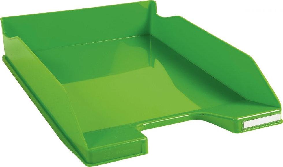 Corbeille à courrier A4+ vert pomme gloss