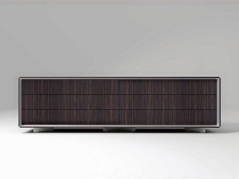 Meuble 6 tiroirs MAST - Structure Blanc Poussière Lunaire