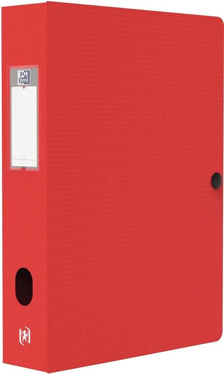 Boite de classement MEMPHIS en polypropylène, dos de 60 mm, coloris rouge