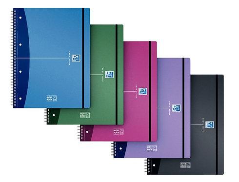Cahier à reliure intégrale MOVEBOOK URBAN MIX 160 pages format A4+ quadrillé 5x5