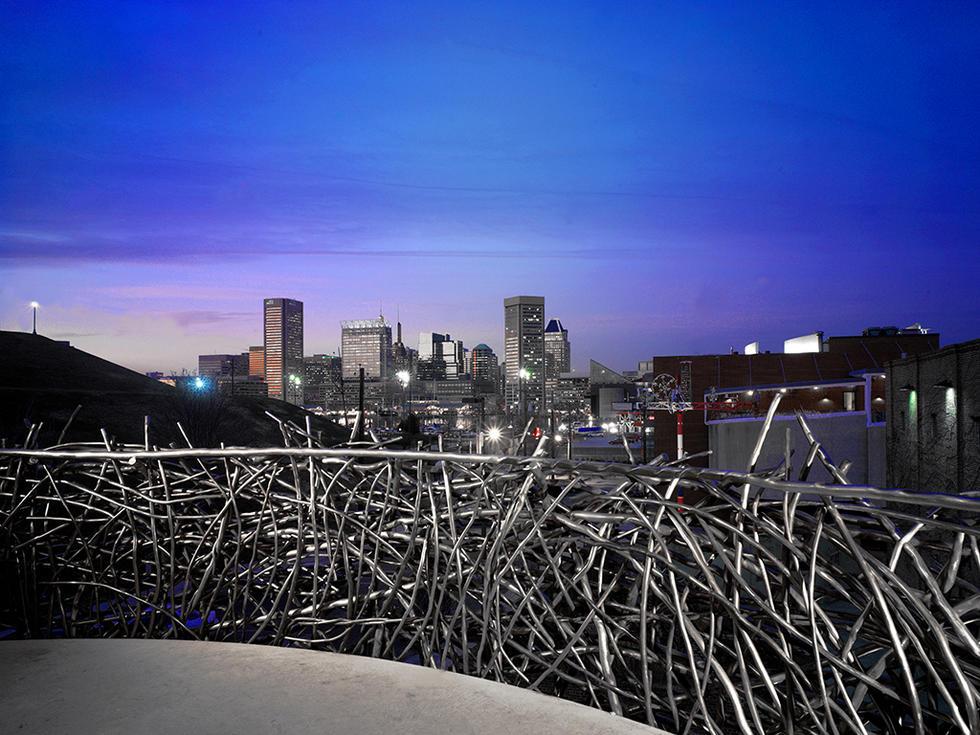 Baltimore skyline from Nest Balcony