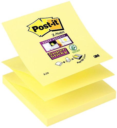 Bloc de 90 feuilles Z-Notes Super Sticky post-it, 76x76 mm, couleur : jaune