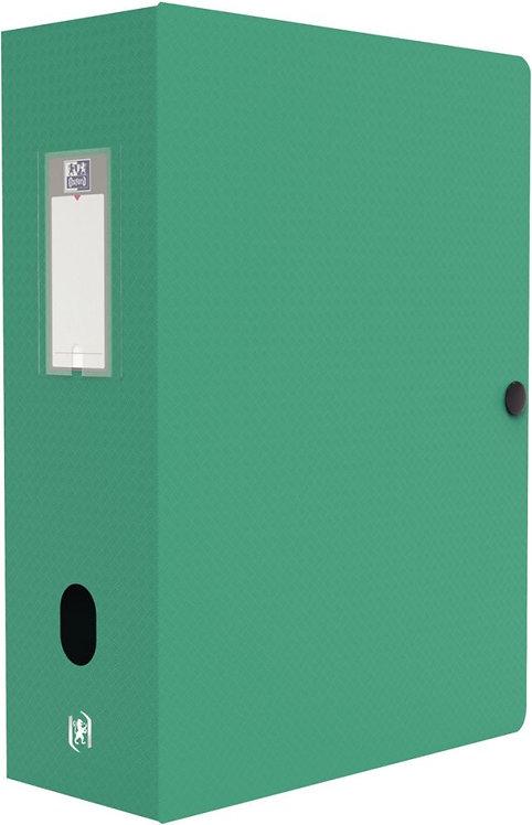 Boite de classement MEMPHIS en polypropylène, dos de 100 mm, coloris vert