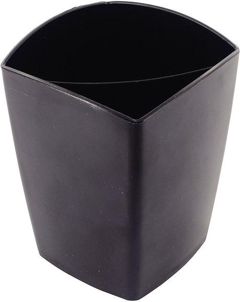 Pot à crayons 2 compartiments magnétique noir