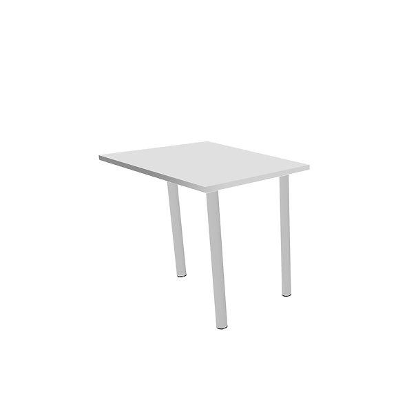 Retour pour table de bureau Porto - Piétement Gris aluminium