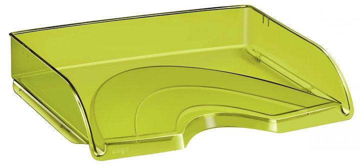 Corbeille à courrier à l'italienne transparente vert