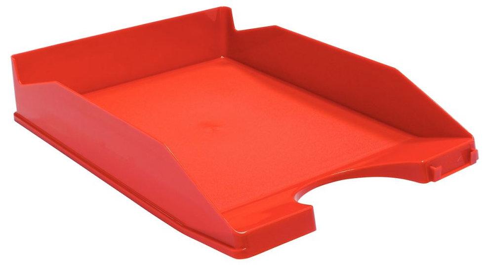 Corbeille à courrier opaque rouge