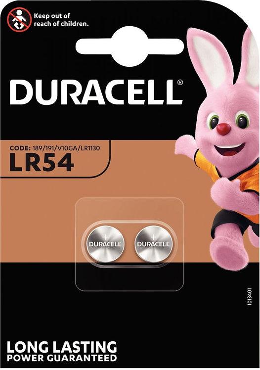 Blister de 2 piles bouton Alcaline LR54