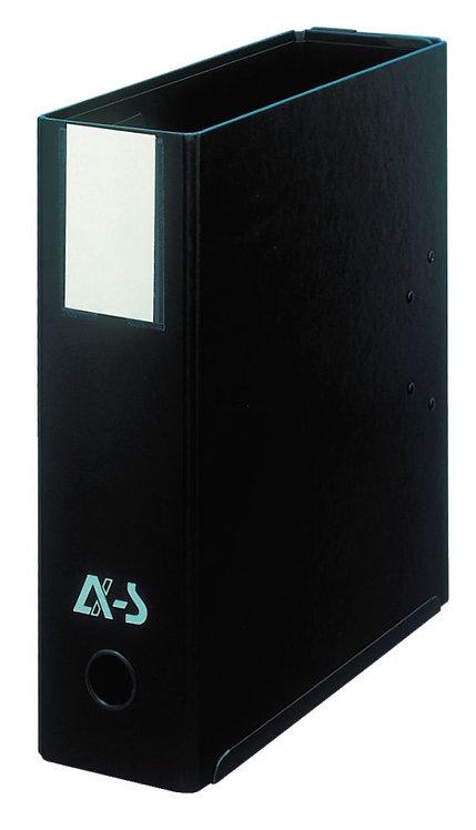 Classeur MIL-AR 2x2 anneaux format A4 : 21x29,7 cm noir