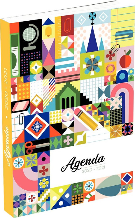 "Agenda septembre à août  11,5 x 17 cm motif ""FEEERIE"""