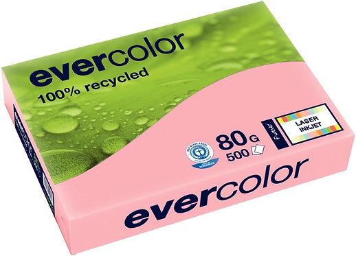 Rame de 500 feuilles de papier recyclé 80g de format A3 rose EVERCOLOR