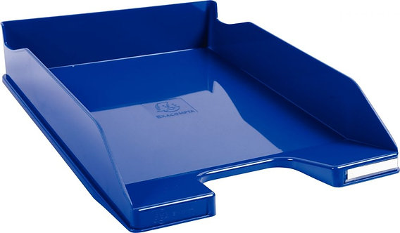Corbeille à courrier A4+ bleu gloss