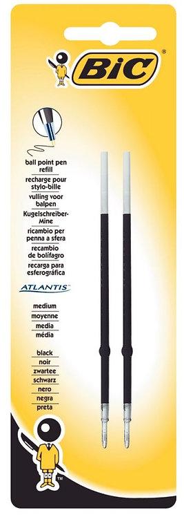 Blister de 2 recharges stylo Atlantis noir