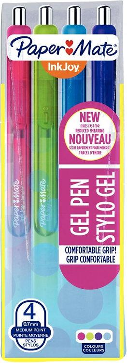 Pochette de 4 stylos gel Inkjoy rétractable fun assortis