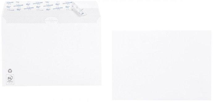 Boîte 500 enveloppes blanches C5 162x229 90g/m² bande de protection